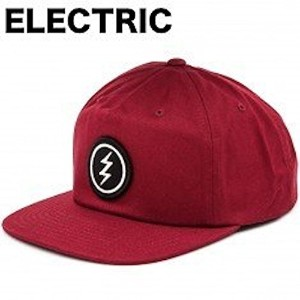 Electric New Uniform Snapback Hat Cap Burgundy キャップ