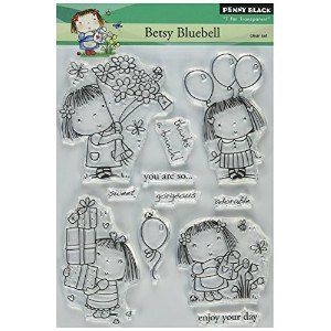 "Penny Black Clear Stamps Betsy Bluebell/クリアスタンプ(5""x7.5"")"