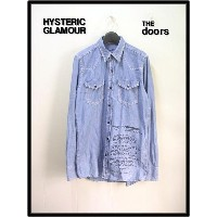 S 【HYSTERIC GLAMOUR ヒステリックグラマー The doorsシャンブレーシャツ】4AH-2061-44A