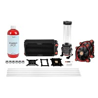 Thermaltake CL-W128-CA12RE-A Pacific RL240 D5 Hard Tube Water Cooling Kit Pacific RL240ラジエーター、PET-G...