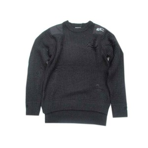 HALFMAN USAハーフマンMOHAIR MIL SWEATER black