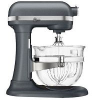 KitchenAid Professional 600 Design Series 6 Qt Glass Bowl Lift Stand Mixer 並行輸入 (Grey)