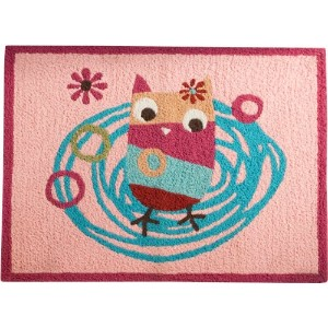 Zutano Owls Rug, Pink (Discontinued by Manufacturer) by Zutano