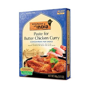 Kitchens of India Paste for Butter Chicken Curry, 3.5-Ounce Boxes (Pack of 6) by Kitchens Of India