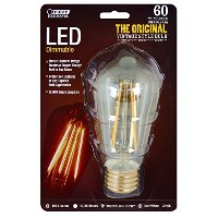 Feit BPST19/LED The Original Vintage Style Bulb 60W Edison Equivalent Medium Base Clear Dimmable...