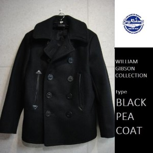 Buzz Rickson's WILLIAM GIBSON COLLECTION ブラックピーコートBLACK 36oz. WOOL MELTON PEA COAT★BR12394バズリクソンズウィリ...