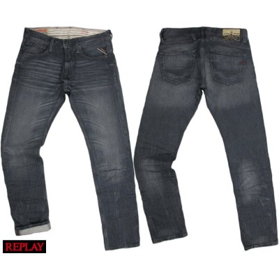 "REPLAY/リプレイ M966K ""JETO"" SLIM スリムフィットストレート 11oz SLUB COLOR COATED DENIM"