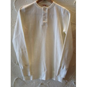 GLAD HAND(グラッドハンド)/WAFFLE HENRY L/S T-SHIRTS WHITE