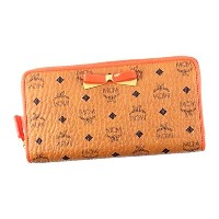 エムシーエム 財布 長財布 MCM MINA VISETOS MYL7SLL02 ZIP AROUND LRG, 12 CREDIT CO001 COGNAC COATED CANVAS (PVC)...