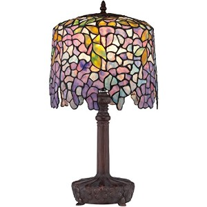 Quoizel TF1139T Purple Wisteria Tiffany 1 Light Table lamp by Quoizel