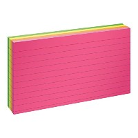Ruled Index Cards, 3 x 5, Glow Green/Yellow, Orange/Pink, 100/Pack (並行輸入品)