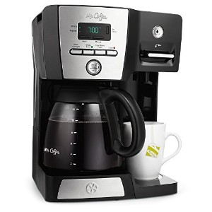 Mr. Coffee BVMC-DMX85 12-Cup Programmable Coffeemaker with Integrated Hot Water Dispenser, 16-Ounce...