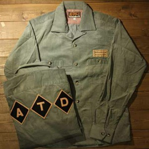 "AT-DIRTY""A.T.DCORDUROY SHIRT ""MINT【AT-DIRTY】(アットダーティー)正規取扱店(Official Dealer)Cannon Ball(キャノンボール)..."
