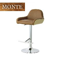 MONTE(モンテ) 「カウンターチェア/COUNTER CHAIR」 2脚組 ブラウン 昇降式チェア、バーチェア 【送料無料】