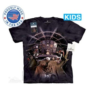 The Mountain Tシャツ The Smithsonian The Bell X-1 Cockpit (The Smithsonian コックピット 飛行機 キッズ 子供用)【輸入品】半袖