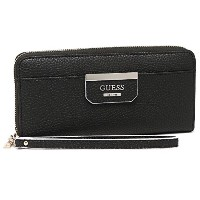 GUESS 財布 ゲス VS642246 BSP BOBBI BOBBI SLG LARGE ZIP AROUND 長財布 BLACK/STRIPE [並行輸入品]