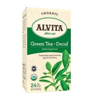 海外直送品Chinese Green Tea Decaffeinated Plain, Caffeine Free 24 Bags by Alvita Teas