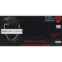 Black Nitrile Powder Free Gloves Non-Medical Size-XLarge 3.5 Mil Thick 1000/case by SHIELD GLOVES