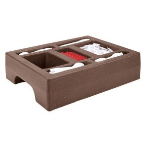 Cambro LCDCH10-131 Camtainers Polyethylene Beverage Carrier Cart Condiment Holder, Dark Brown ...