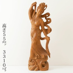 木像 天女 Wooden statue of Tennyo
