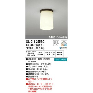 OL011255BC オーデリック CONNECTED LIGHTING 小型シーリングライト [LED][Bluetooth]