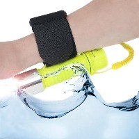 Strong LED Flashlight with Basic Waterproof / Wristband