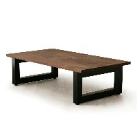 送料無料 Masterwal MOSAIC LIVING TABLE(WALNUT)(STEEL LEGS)(W1200)(cc-wn)MSLT1265SL【マスターウォール/グリ...