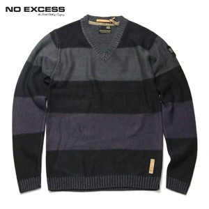 【25%OFFセール 12/16 20:00~12/21 1:59】 ノーエクセス NO EXCESS 正規販売店 メンズ Vネックセーター BOADER V NECK KNIT SWEATER...