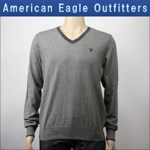 【15%OFFセール 12/16 20:00~12/21 1:59】 アメリカンイーグル AMERICAN EAGLE 正規品 メンズ Vネックセーター AE TIPPED V-NECK...