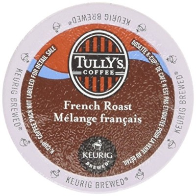 Keurig Tully's(タリーズ)KカップTully's Coffee  K-Cup for Keurig Brewers 並行輸入品 (フレンチローストFrench Roast, 24カップ...