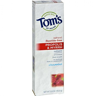 Propolis and Myrrh Toothpaste Cinnamint - 5.5 oz - Case of 6 by Tom's of Maine