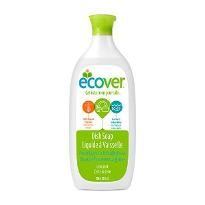 Ecover Natural Plant-based Liquid Dish Soap, Lime Zest, 25 ounce by Ecover