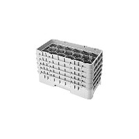 Cambro 17HS958-151 10-1/8-Inch Polypropylene 17-Compartment Camrack Glass Racks, Half Size, Soft...