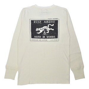 GANGSTERVILLE PANTHER DRINK THICK HENRY L/S T-SHIRTS (WHITE)ギャングスタービル 長袖 Tシャツ/ロンT/GLADHAND【WEIRDO...