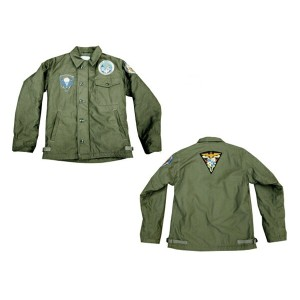 "BUZZ RICKSON'S バズリクソンズA-2 DECK JACKET""U.S.NAVY"" PATCH ""PARACHUTTE RIGGER""2013年生産 BR12887-13AW「NC」"