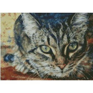 I see you,cat counted cross stitch kits 14 ct, 見つけました ,猫 クロスステッチキット150x110 ポイント、37x20cm クロスステッチ