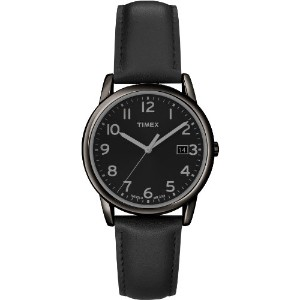 Timex タイメックス メンズ腕時計 Men's T2N947 Elevated Classics Dress All Black Leather Strap Watch