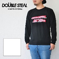 DOUBLE STEAL ダブルスティール Tシャツ RED BOX PLATE L/S Tee 長袖Tシャツ ロンT ストリート 974-14061