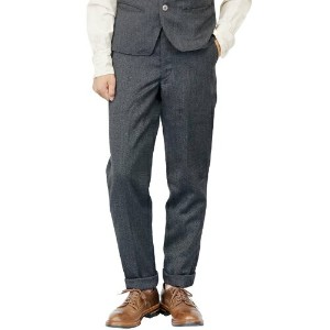 FREEWHEELERS フリーホイーラーズ ROCKEFELLER LATE 1800s TAILORED TROUSERS GRAINED WOOL OXFORD GRAINED GRAY