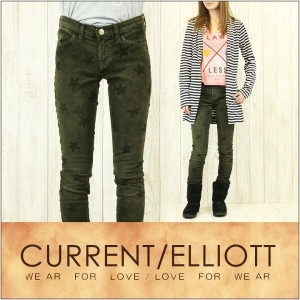 CURRENT ELLIOTT カレント エリオット スキニー パンツ レディース THE ANKLE SKINNY [Forge W-Star]