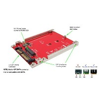 Ableconn IU2-M2132 M.2 NVMe SSD to U.2 2.5-Inch SSD Adapter with Aluminum Frame Bracket - Turn M.2...