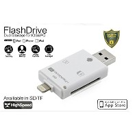 iPhone iPad カードリーダー Flash device HD SD TF カード USB microUSB TASTE-LXM006D