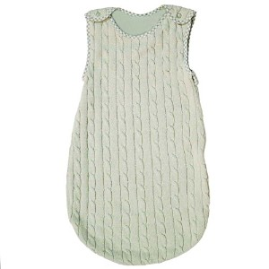 Tadpoles 0-6 Months Cable Knit Sleep Sack, Sage by Tadpoles
