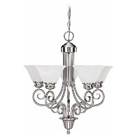 Volume Lighting V2535-33 Troy 5 light brushed nickel chandelier by Volume Lighting