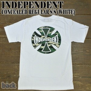 INDEPENDENT/インデペンデント CONCEALED S/S TEE WHITE メンズ Tシャツ 男性用 T-shirts 半袖 丸首