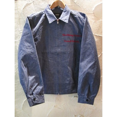 【SALE30%OFF】★送料無料★RATS ラッツ/CHAMBRAY WORK JKT ON EMB BLUE
