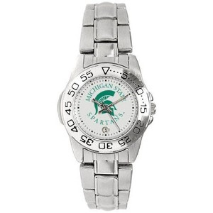 Michigan State Spartans GamedayスポーツLadies ' Watch with aメタルバンド