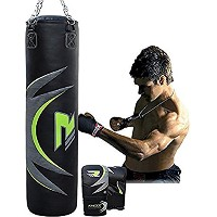 RDX Heavy Boxing 4FT 5FT Punch Bag Filled MMA Punching Bags Training グローブ KickBoxing (海外取寄せ品)