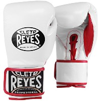 Cleto Reyes レース Up Hook and Loop ハイブリッド Boxing グローブ (White, X-SMALL) (海外取寄せ品)