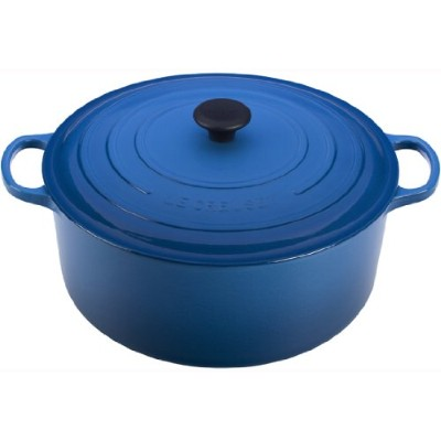 Le Creuset Signature Enameled cast-iron 13 – 1 / 4-quart Round French Oven 13-1/4-Quart ブルー LS2501...